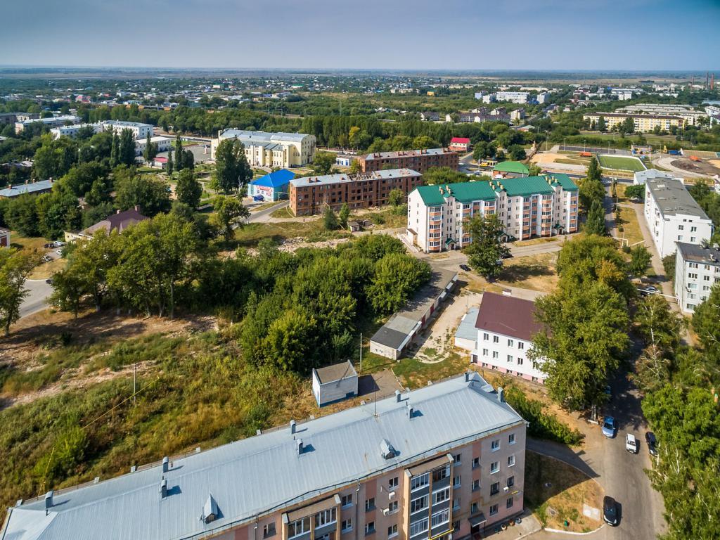 Chapayevsk da un'altezza