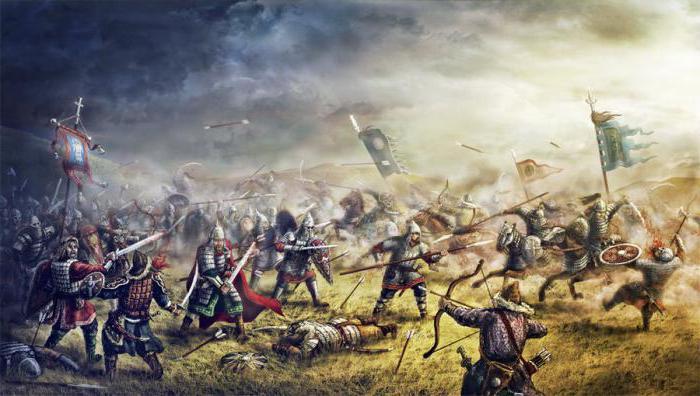 Evento di 1223 anni nel fiume Kalka in Russia