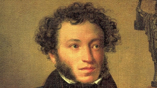 Великият руски поет А. С. Пушкин