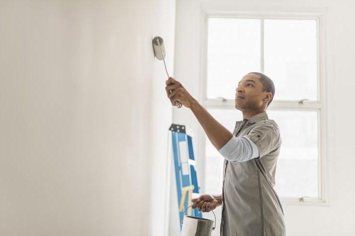 акрилна боя за характеристики на стени и тавани