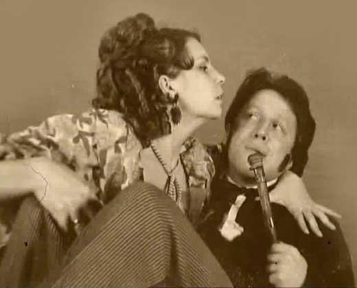 Vladimir Steklov con la sua prima moglie