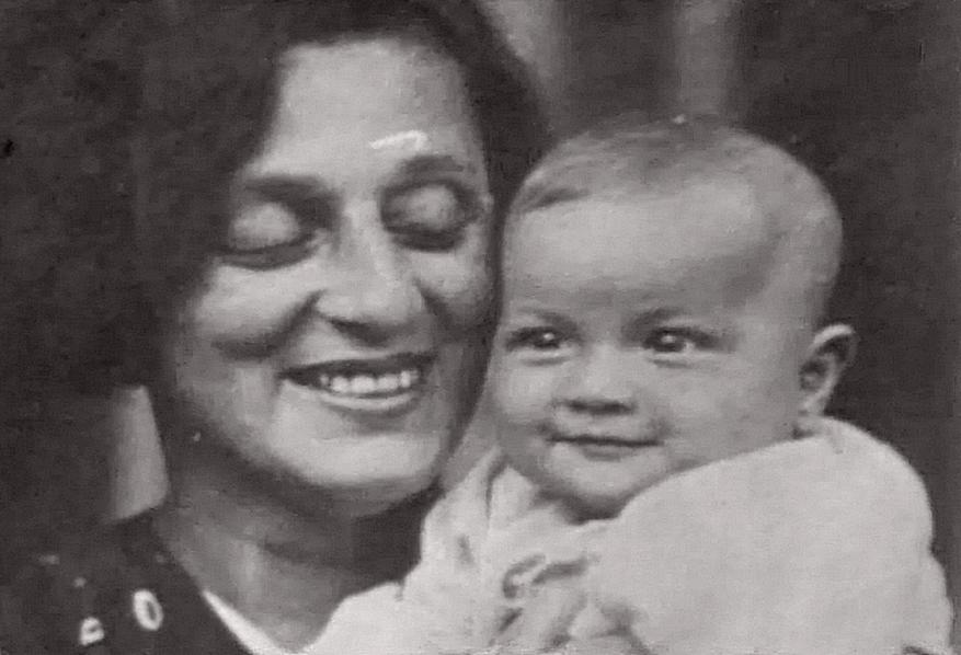 Felice Veriko con la figlia Sofiko