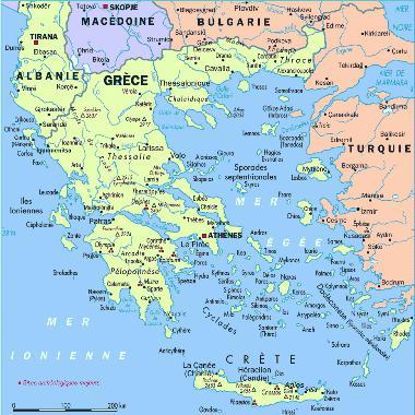 Mar Egeo sulla mappa