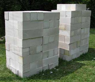 case di blocchi di cemento cellulare
