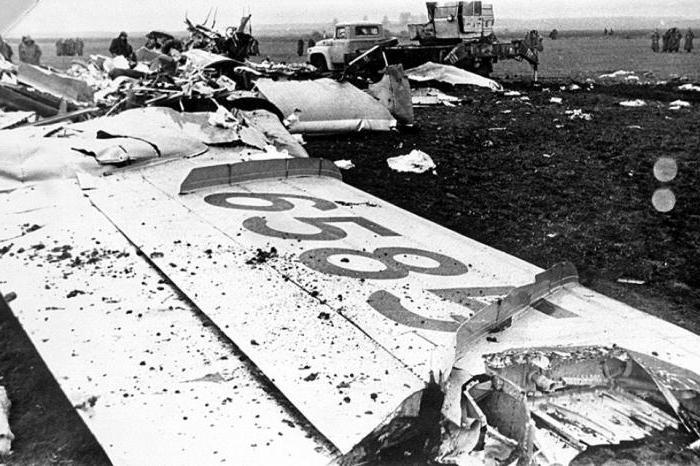 letecká havárie posledních let v rusku