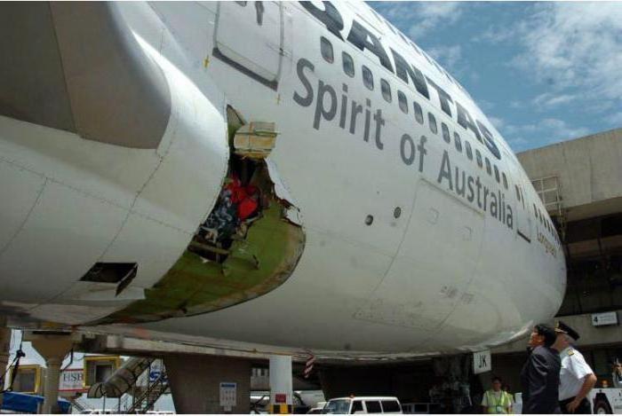zmanjšanje tlaka letala, kar se dogaja