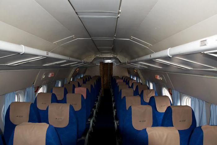 La cabina del Tu-134