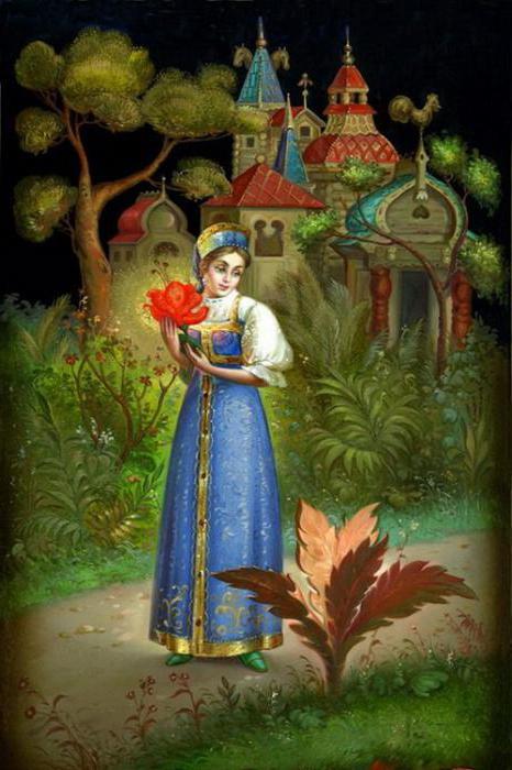 Il fiore scarlatto di fiaba di Aksakov