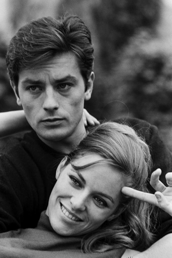 Алаин Делон са својом женом