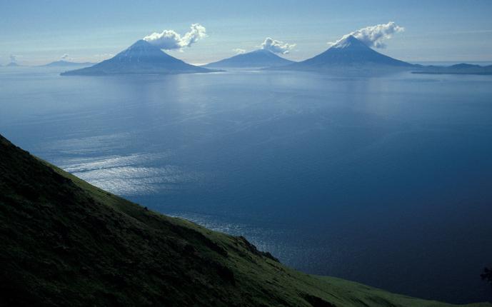 Къде са Алеутските острови