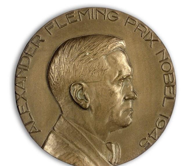Medaglia di bronzo del Premio Nobel con immagine Fleming