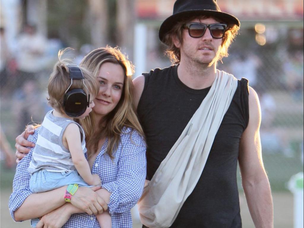 Foto di Alicia Silverstone con la famiglia