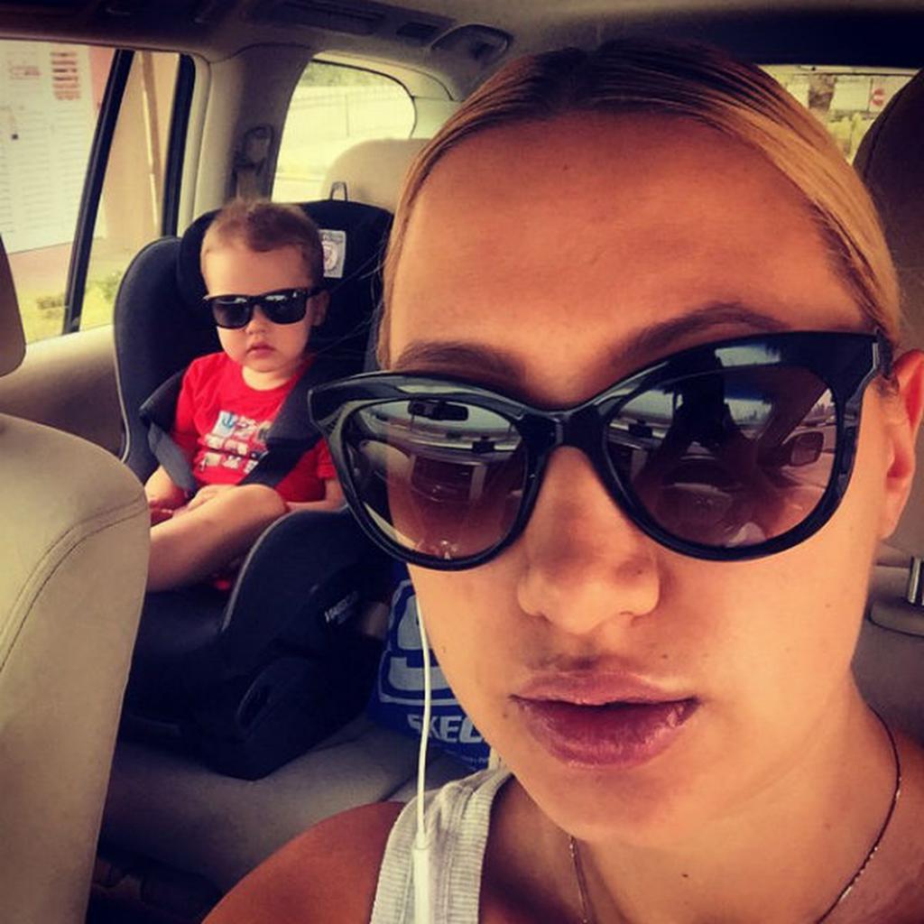 Алина са сином