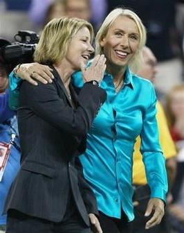 Chris Evert in Martina Navratilova
