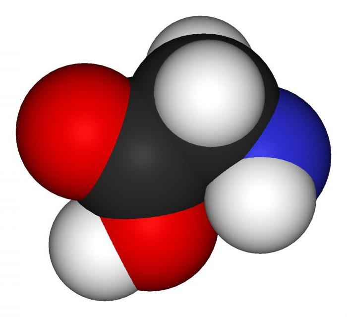 аминоацетатна киселина реагује са