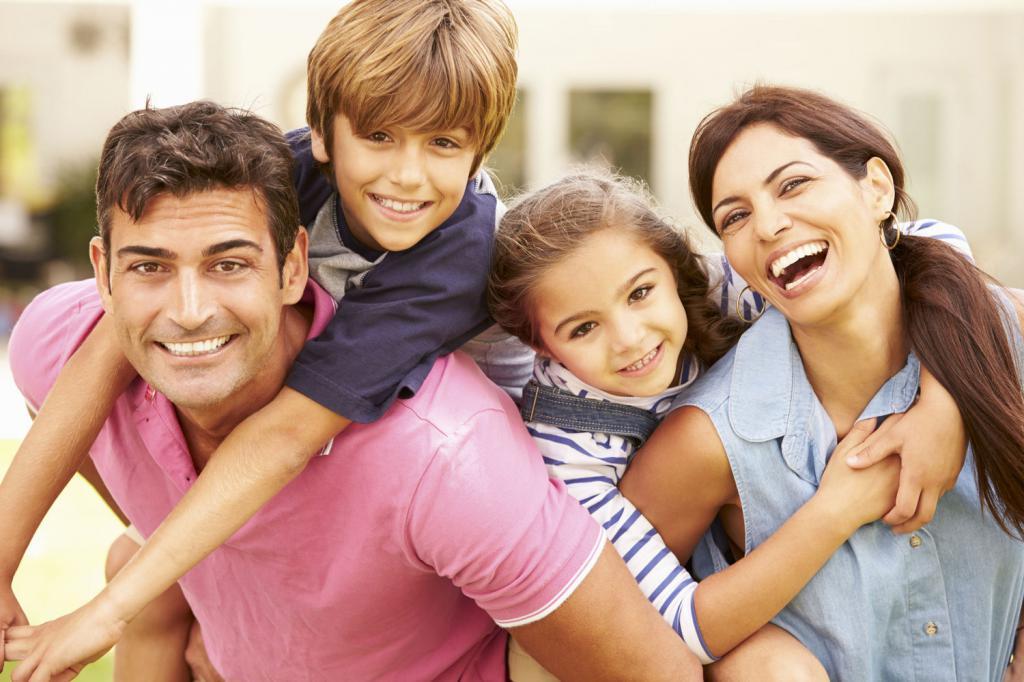 Prijazna družina, kjer so vsi srečni