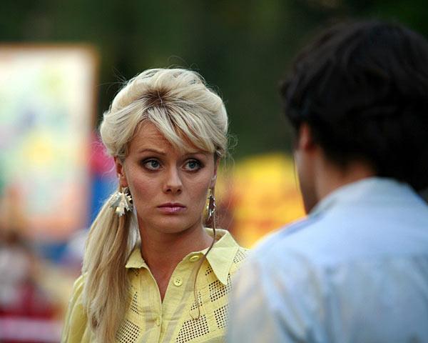 Anastasia Savosina sul set della serie
