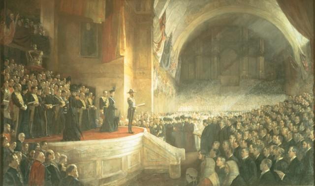 Откриването на първия парламент на Съюза на Австралия през 1901 г.