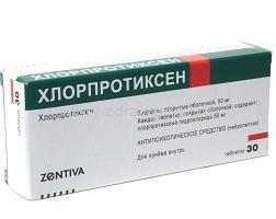 istruzioni per l'uso di clorprothixen