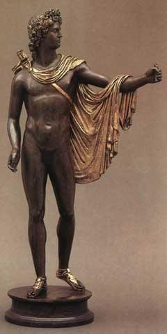 statua di apollo belvedere