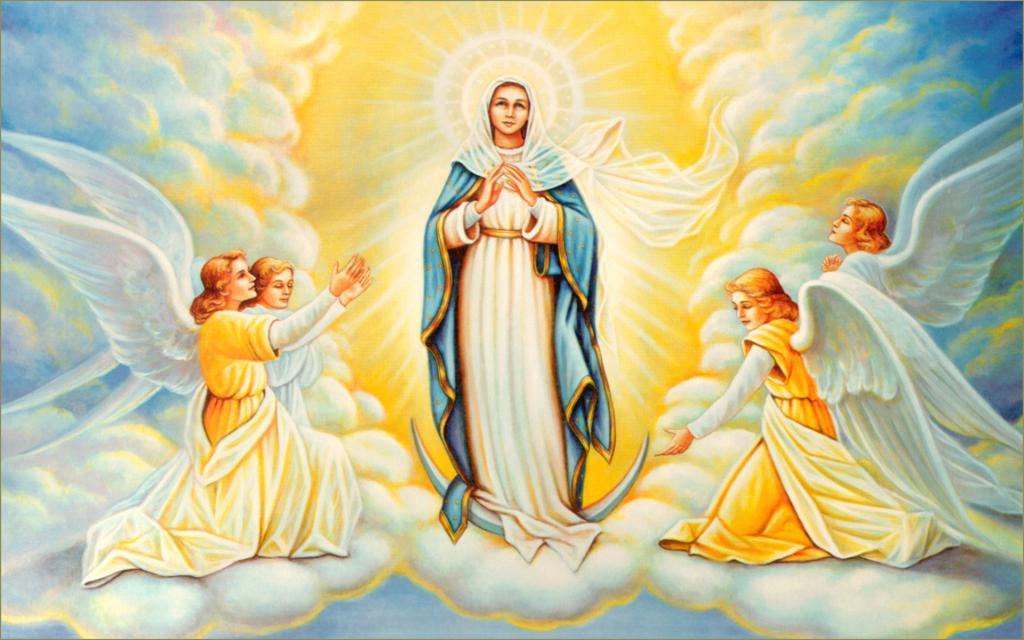 Maryja Dziewica i aniołowie