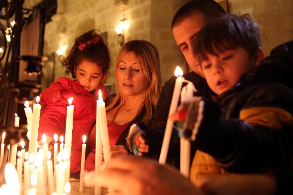 Chrześcijanie się modlą