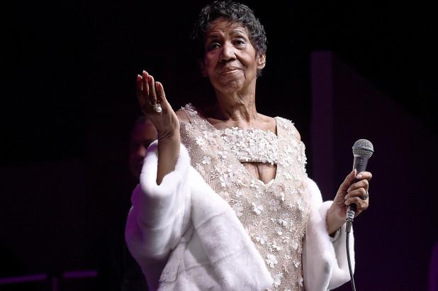 Aretha Franklin během posledního představení