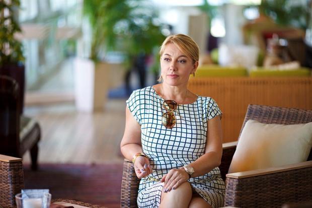 Televizní hostitelka Arina Sharapova
