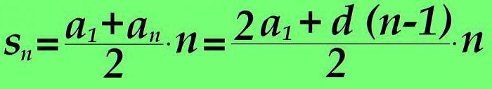 vsota članov aritmetičnega napredovanja