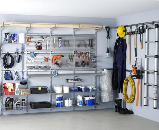 organizzare un garage con le tue mani