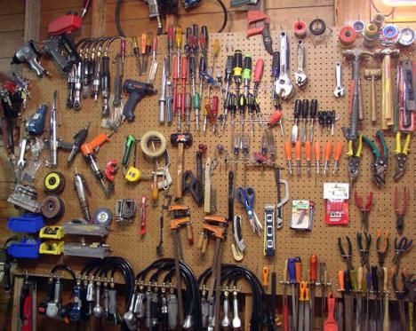 sistemazione interna del garage fai da te