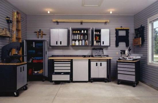 disposizione del garage all'interno