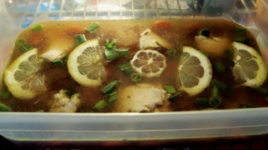 треска с лимон