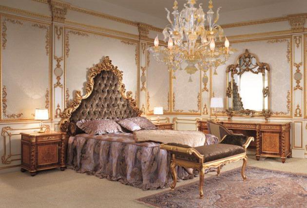 interijer spavaće sobe u baroknom stilu