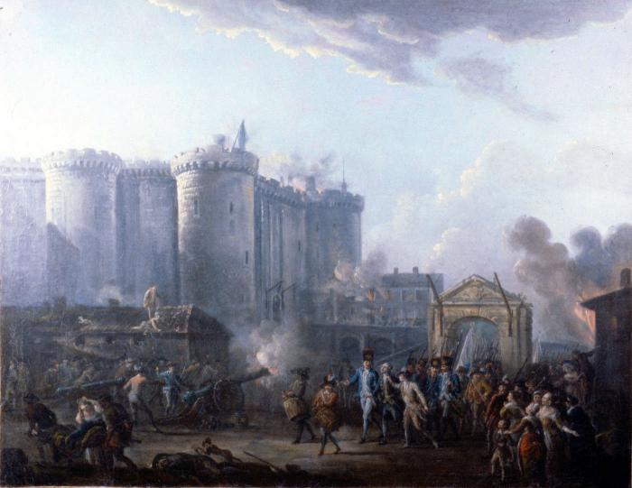 Il giorno della presa della Bastiglia in Francia