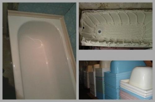 Fodera acrilica per bagno da restauro