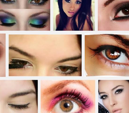 Makeup za rjave oči korak za korakom