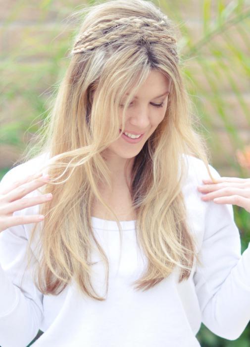 Belle trecce per i capelli lunghi