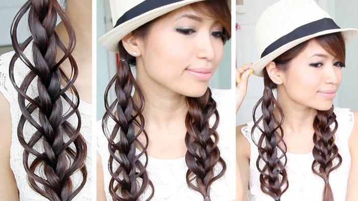 intreccia trecce per capelli lunghi