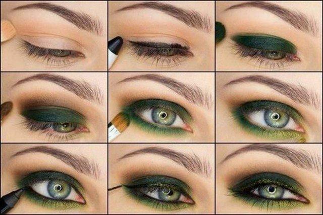 proljetna šminka za zelene oči