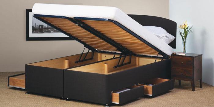 дизајн кревета са механизмом за подизање