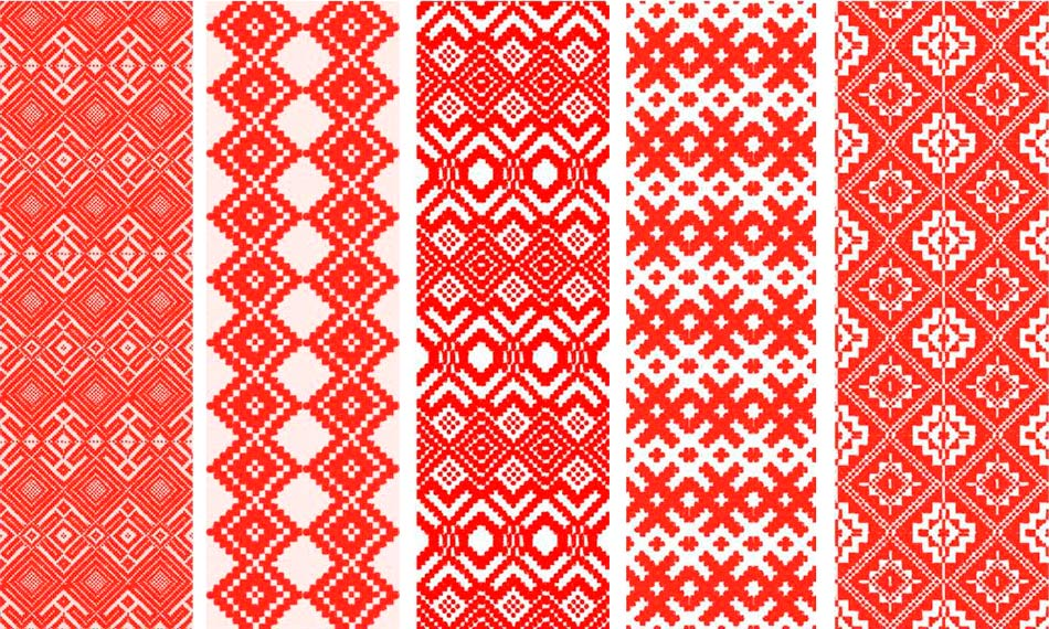 ornamento rosso bielorusso