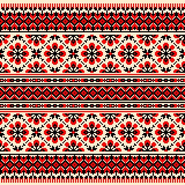 ornamento bielorusso rosso e nero