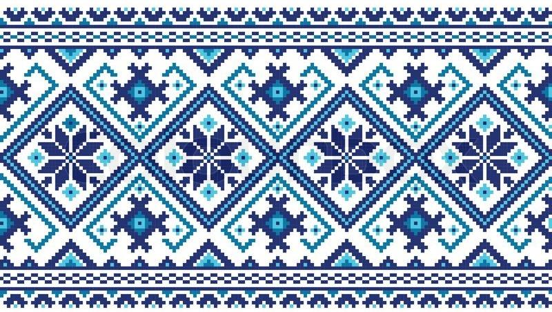Ornamento bielorusso blu