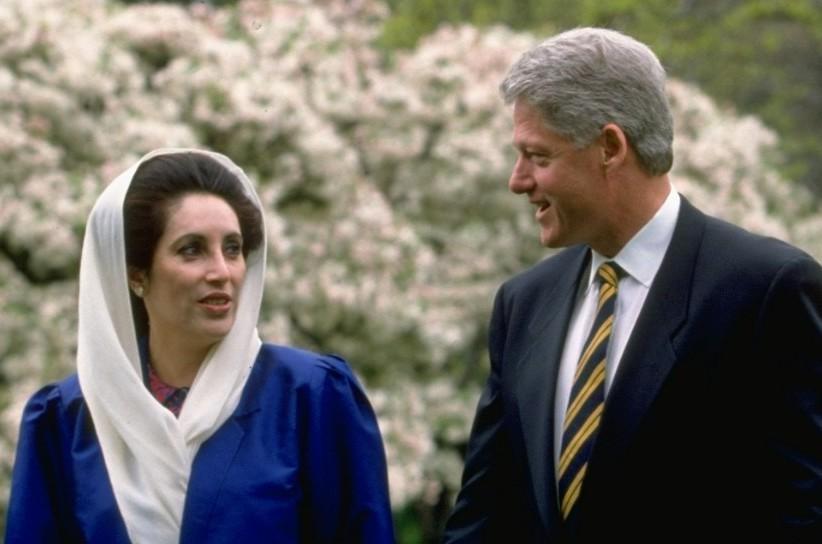 Беназир Бхуто с американския президент