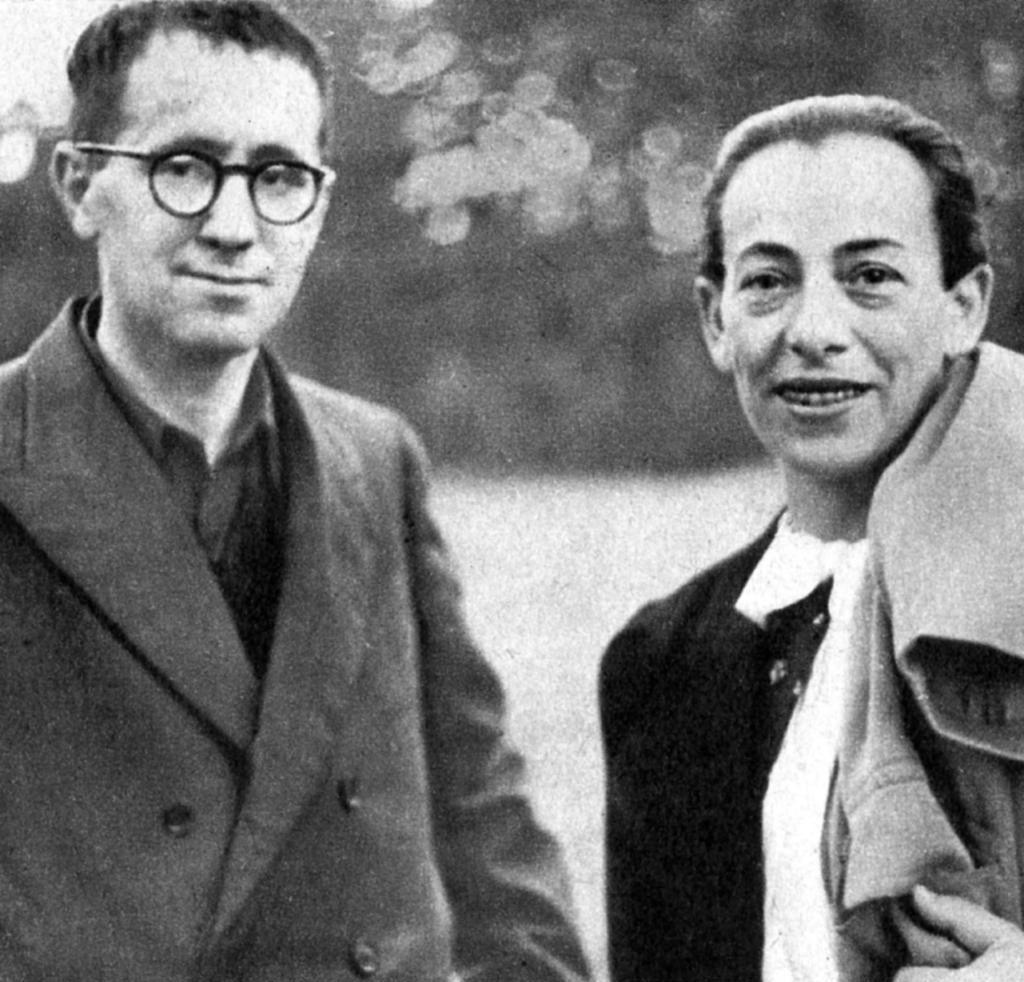 Bertoltem Brechtem a Elenou Weigelovou