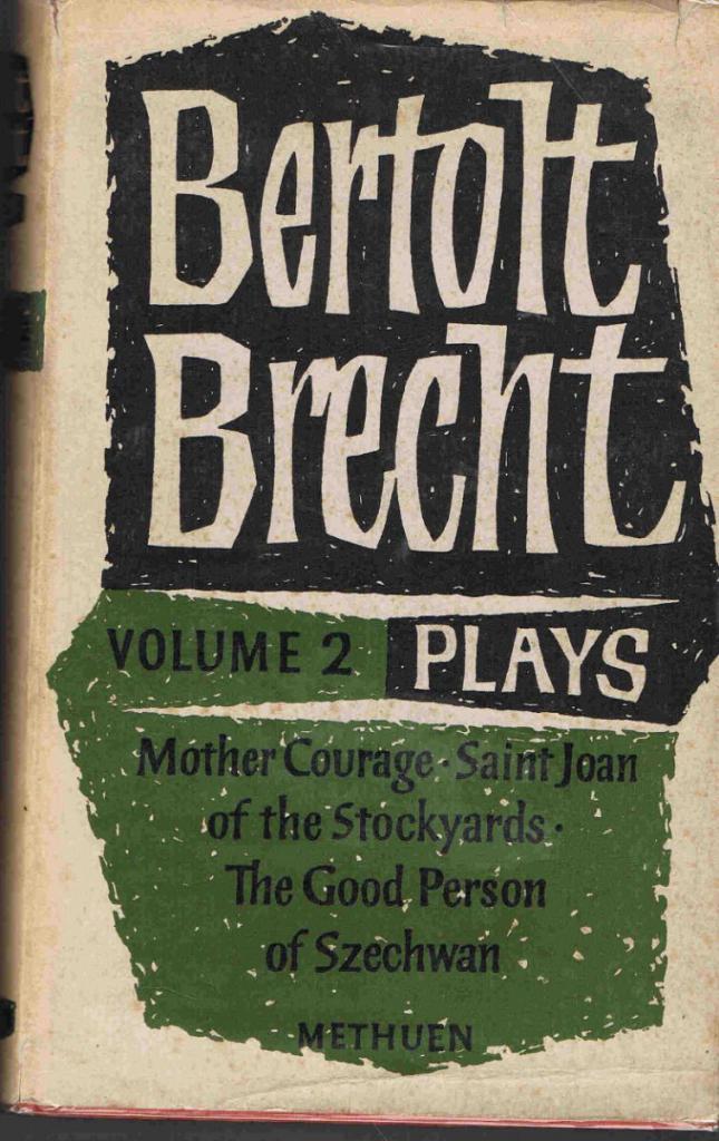 Obálka knihy B. Brechta