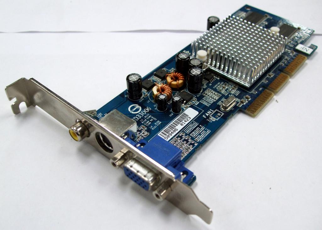 GIGABYTE GeForce 4 MX 4000 275Mhz AGP 128Mb 400Mhz 64-bitowy telewizor