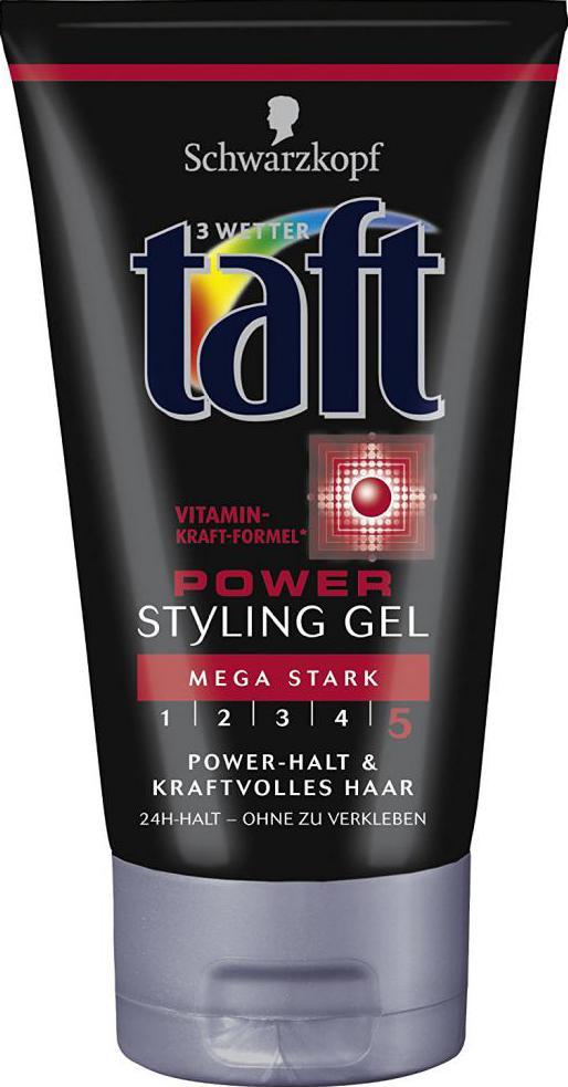 taft żelowy do mocowania włosów