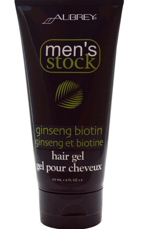 gel per lo styling dei capelli maschile